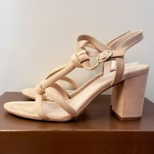 Blush Knotted strap sandal